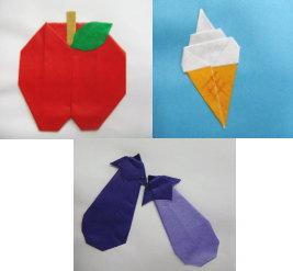 食べ物の折り紙