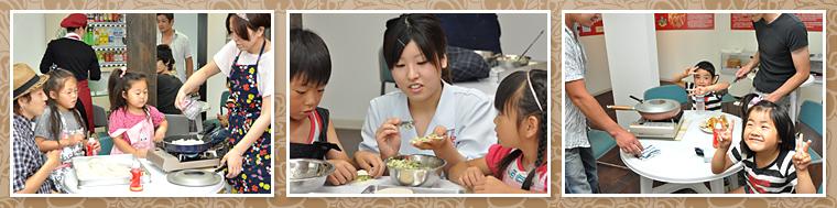 子供達に大人気。手作り餃子教室